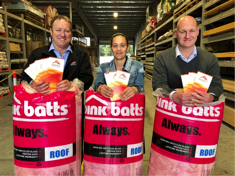 Maru Energy Trust is aiming to warm up the King Country.    Left to right:  Waitomo District Mayor, Brian Hanna, WESCT Chair Erin Gray and The Lines Company Chief Executive, Sean Horgan.