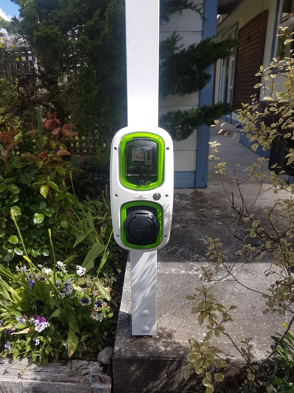 Look out for our distinctive white and green EV chargers at local accommodations and businesses