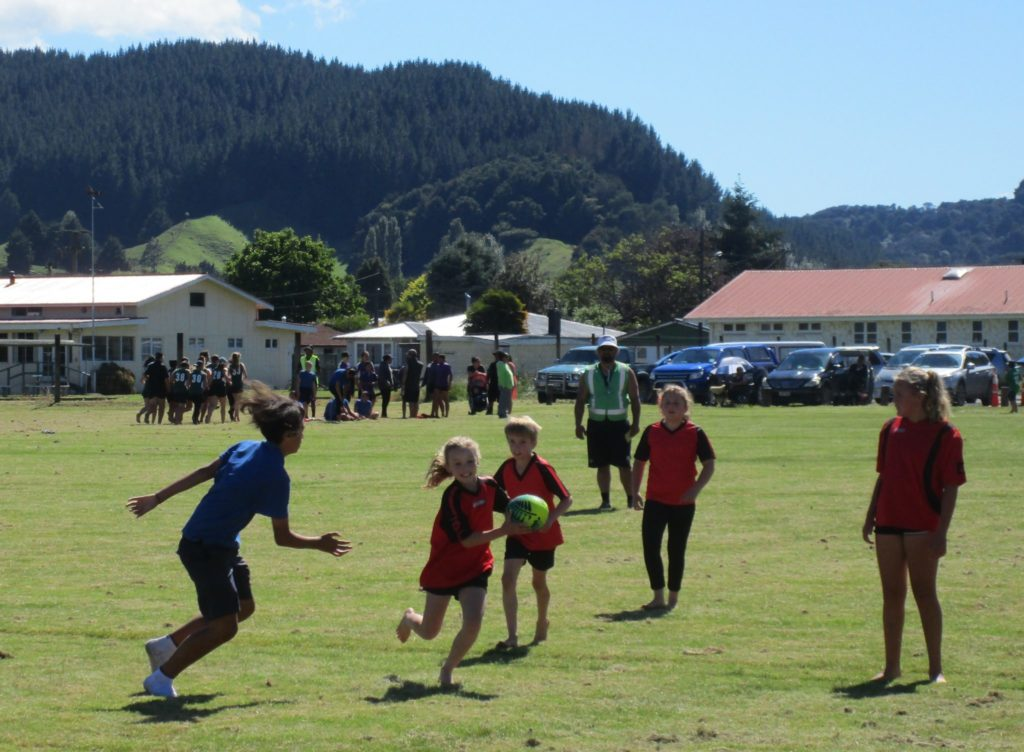 Action from a Taumarunui inter-school touch tournament held earlier this year