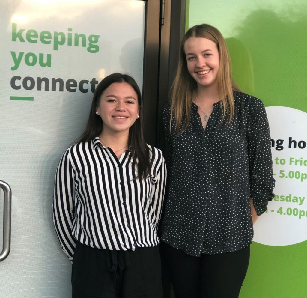 Paige Coffin-Bell and Gemma Gaukrodger were two of five local students to win TLC scholarships last year.  TLC is now calling for another round of applications.