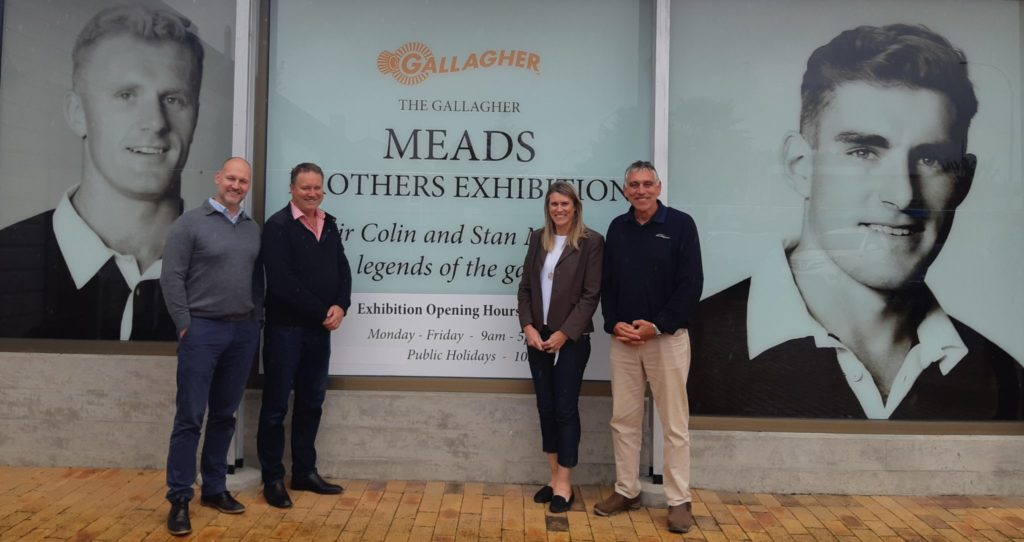 Left to right, TLC chief executive Sean Horgan with Pinetree No5 trustees Brian Hanna, Shelley Mitchell and Glynn Meads outside the Gallagher Meads Brothers Exhibition.