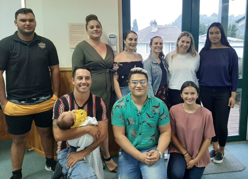 Young achievers who attended the launch celebration: Rear (left to right) Brad Ostern, Te Aniwa Tuheke, Waikauri Hirini, Sarah Bailey, Morghan Scrimgeour and Ngarangi Poa-Barrett. Front (left to right) Ethan Ordish, Miles Manunui and Kelsi Crown.